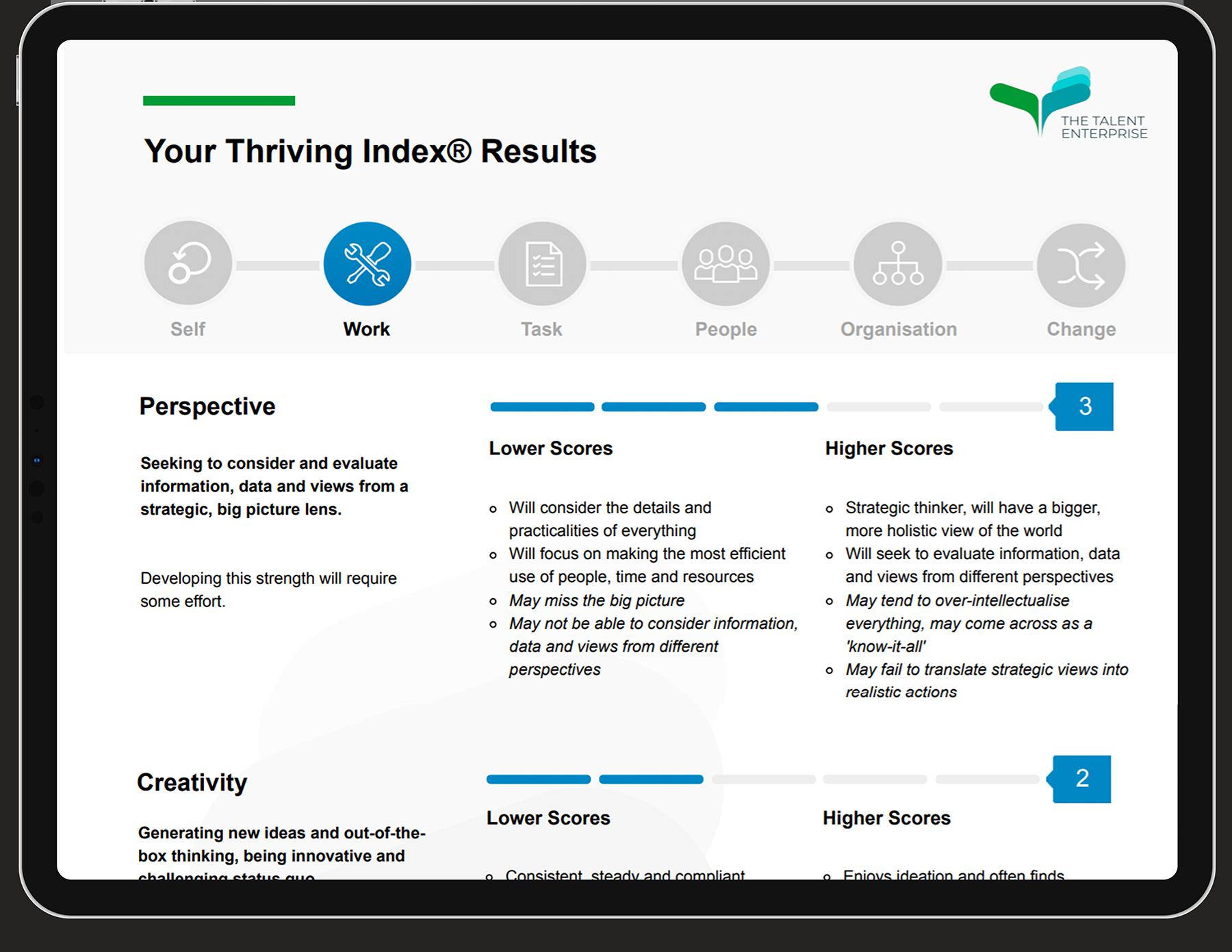Thiriving Index Report